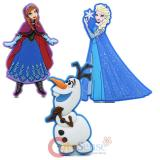 Disney Frozen Elsa Anna Olaf Soft Touch PVC Magnet - 3pc Set