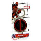 Marvel Deadpool Logo Metal Key Chain Colored Pewter Key Holder