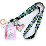 Simpson Family Lanyard Keychain ID Holder with Logo Charm Dangle