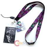 DC Comics The Joker Lanyard Keychain ID Holder with Joker Charm Dangle