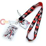 DC Comics Harley Quinn Lanyard Keychain ID Holder with Harley Quinn Charm Dangle