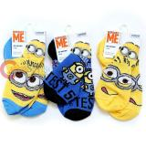 Despicable Me Minions 3 Pair Anklets  Socks Set : Small