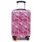 "Sanrio Hello Kitty Pink Face All Over 20"" Trolley Bag, Hard Suit Case , Luggage"