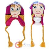 Disney Frozen Anna Face Laplander Beanie Hat with Anna Hair