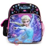 "Disney Frozen Elsa 10"" School Backpack  Toddler Mini  Bag Black Pink"