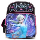 "Disney Frozen Princess Elsa 14"" School Backpack Girls Medium Bag - Black Pink"