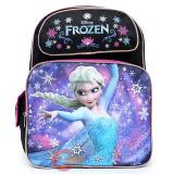 "Disney Frozen Elsa 16""  School Backpack with Olaf  Large Bag -Black Pink"