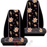 Disney Winnie The Pooh and Piglet Front Car Seat Cover 2pc Set - Paradise