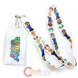 Nintendo Supermario Lanyard Keychain with  ID Holder