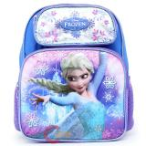 "Disney Frozen Princess Elsa 14"" School Backpack Girls Medium Bag -Ice Snowflakes"