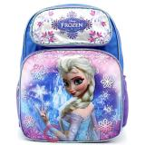 "Disney Frozen Elsa Large School Backpack 16""  Bag -Ice Snowflakes"