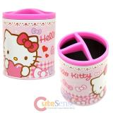 Sanrio Hello Kitty Metal Pencil Holder Organizer Can - Lot of Love