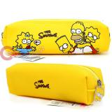 The Simpson Family Pencil Case Faux Leather  Pouch Bag -Group Yellow