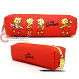 The Simpson Family Lisa Pencil Case Faux Leather  Pouch Bag -Lisa
