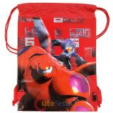 Disney Big Hero 6 Sling Shoulder Bag Drawstring Backpack - Red