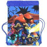 Disney Big Hero 6 Sling Shoulder Bag Drawstring Backpack - Blue