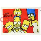 The Simpson Family Plush Blanket Throw  29x40 Red