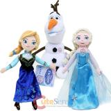 Disney Frozen Princess Elsa Anna Olaf Talking Plush Doll 3pc Set  10in