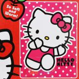 Sanrio Hello Kitty Raschel Plush Mink Blanket Twin Throw- Run Kitty