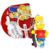 The Simpsons Family PVC Figural Key Chain - Bart Skateboard