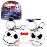 Nightmare Before Christmas Jack 2 Face  Metal Key Chain - Good Bad Day