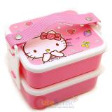 Sanrio Hello Kitty 2 Tier Bento Lunch Box - Love Kawaii Things
