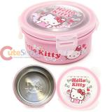 Sanrio Hello Kitty Stainless Steel Round Food Container Bento