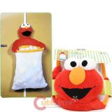 Sesame Street Elmo  Catch All Bag with Large Plush Doll  Door Hanging Toy Bag