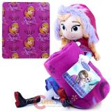 Disney Frozen Anna  Fleece Throw Blanket with Plush Doll Pillow Set