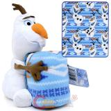 Disney Frozen Olaf Fleece Throw Blanket with Plush Doll Pillow Set