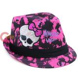 Monster High Girls Fedora Hat Pink Black
