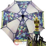 TMNT Ninja Turtles Kids Umbrella  with 3D Figure Handle - Shell Action