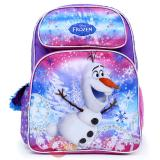 "Disney Frozen Olaf Large School Backpack 16"" Girls Book Bag"