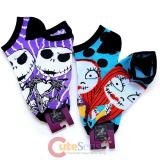 Nightmare Before Christmas Jack Sally Anklets Socks Set  Pair