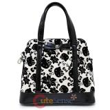 Sanrio Hello Kitty Black Cream Floral Crossbody Bag Shoulder Purse