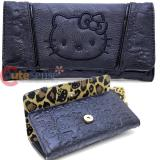 Sanrio Hello Kitty Patent Face TriFold  Long Wallet by Loungefly