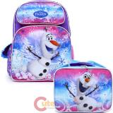 "Disney Frozen Olaf 16"" Large School Backpack Lunch Bag 2pc Set"