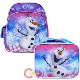 "Disney Frozen Olaf 12"" Small School Backpack Lunch Bag 2pc Set"