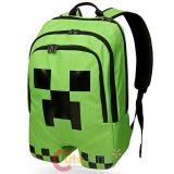 "Minecraft Creeper Large School Backpack , 18"" Costume Book Bag"