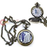 Attack on Titan Shingeki no Kyojin Survey Corps Pocket Watch Necklace