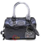 Sanrio Hello Kitty Angry Matte Black Emboss Mini City Hand Bag