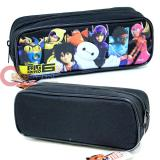 Disney Big Hero 6 Pencil Case Zipppered Pouch  Bag -Black
