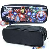 Marvel Avengers Pencil Case Zipppered Pouch  Bag -Black