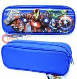 Marvel Avengers Pencil Case Zipppered Pouch  Bag - Blue