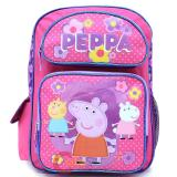 "Peppa Pig  Large School Backpack 16"" Girls Book Bag"