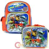 "Nickelodeon Paw Patrol  12"" Small School Backpack Lunch Bag 2pc Set"
