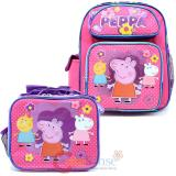 "Peppa Pig  12"" Small School Backpack Lunch Bag 2pc Set"