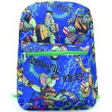TMNT Ninja Turtles All Over Print Large School Backpack - Blue