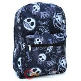 Nightmare Before Christmas  Jack All Over Print Large School Backpack - Black