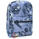 Nightmare Before Christmas  Jack All Over Print Large School Backpack - Grey